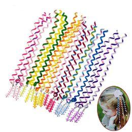 Wholesale Girls Hair Clip Holder - 3Pcs Set Colorful Plastic Twist Barrette Spiral Hair Band For Women Girls Hair Accessories Elegant Hair Clip