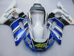 Kits de carenados del mercado de accesorios yamaha r6 online-Aftermarket moto partes Juego de carenado para Yamaha YZF R6 98 99 00 01 02 carenados azul blanco set YZFR6 1998-2002 OT10