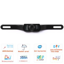 Wholesale Car Front Rear View Camera - Waterproof IP67 7 LED Rear View Car Reverse Backup Camera Reversing Parking Distance Scale Lines for Vehicle Backup Camera Front +B