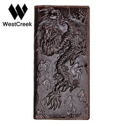 Wholesale Unique Chinese - Wholesale- Brand Unique Design Chinese dragon Pattern Genuine Leather Men's Wallets High Quality Really Leather Purse by GMW008