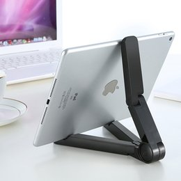 Wholesale Mini Ipad Mount - Universal Adjustable Foldable mobile phones Stands Mount Holder Tripod Cradle for iPad 2 3 4 5 Mini Air 7-10 inch Tablet PC