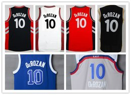 Wholesale Cheap Stitched Sports Jerseys - Cheap Sale Men's Basketball Jerseys #10 Demar DeRozan Jersey Blue Red White Purple Throwback Stitching Sports Jerseys Top Quality