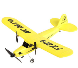 Wholesale Rc Transmitter Airplane - FX803 RC Airplane 2CH 2.4G Aircraft Glider Kid Toys with Transmitter Aerodone Toy Children Audult 150m Airplane Battery Power RC Drones