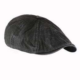 Wholesale Male Models Cap - Wholesale-Summer Beret Flat Cap 2016 Fashion Gentleman Mens Cotton Bakerboy Newsboy Cabbie Cool Driver Hats Golf Driving Male Models