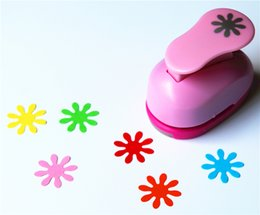 Wholesale Diy Art Foam Craft - Wholesale- free shipping 1 inch daisy design eva foam punch paper punches scrapbooking cutter hole punch craft punching for DIY artwork