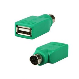 Wholesale mouse connectors - Wholesale- Factory Price 1PCS USB Female to PS2 PS 2 Male Adapter Convertor Connector For Keyboard Mouse Mice High Quality Suppion