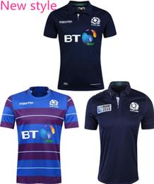 Transferencia de camisetas online-¡Envío gratis! Rugby Union 2015 Rugby World Cup Escocia País jersey jersey de alta temperatura de transferencia de calor jersey 2017 camisetas de rugby