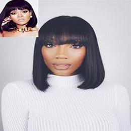 Wholesale Hair Color Simulation - wholesale bob silky straight full wigs simulation brazilian human hair silky straight short bob style full wig for black women