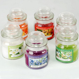 Wholesale Aroma Decoration - 20Hours Scented Candles Bell Jar Candle With A Variety Of Fragrance,Aroma Paraffin Wax Aromatherapy Candles Free Shipping ZA3888