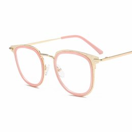 f9454d3a92 New Fashion Newest Style Frame Plain Eyeglass Frame Optics Clear Occhiali  da lettura Trendy Goggles for Men Donna oculos feminino VE08