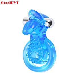 Wholesale Tongue Stimulation - Dual Pleasure Vibrating Ring Tongue Oral Stimulation Sex Toy Delayed Ejaculation Penis Cock Ring For Couples Sex Products