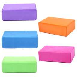 Blocco di massaggio online-23 * 15 * 7.6 CM YOGA Block Candy Color Silicon Gym Esercizio Fitness Schiuma galleggiante Physio Massage Fitness Yoga