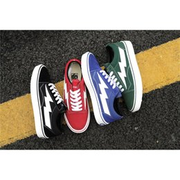 Wholesale Shit For Women - 2017 Vanse Off The Shits Boy Mens Casual Shoes Black Red Green Blue Plimsolls Canvas shoes Rope Soled shoes For Men
