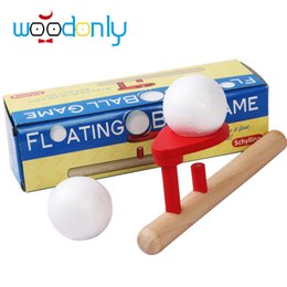 Wholesale Balance Balls Toy - Wholesale-Ball floating game Blow Toys Schylling wooden floating ball game suspended Outdoor Funny Sports Creative Pipe Balance kids toys
