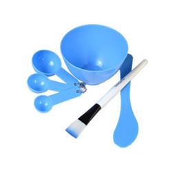 набор инструментов для маски для лица Скидка DIY маска для лица чаша кисти ложка палку инструмент мода домашнее 6 в 1 Макияж красоты DIY маска для лица набор инструментов DHL