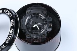 Wholesale Acrylic Display Boxes - Excellent Quality GWG1000 TOP brand new relogio dual display sports watch GMT army military watches men Casual Watches with box
