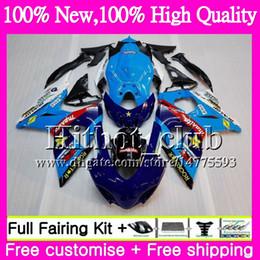 Wholesale orange white motorcycle fairings - Motorcycle Fairing For SUZUKI GSX-R1000 GSXR 1000 09 10 11 12 13 15 33HT22 GSX R1000 K9 Cyan blue K9 GSXR1000 2009 2010 2011 2012 2014 2015