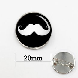 Wholesale Celtic Mustache - Independent original design mustache pins High Quality Exquisite mustache badge Necktie Formal beard brooch