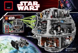 Wholesale Death Stars - BLOCKS LELE 35000 3803 PCS STAR WARS STAR WARS 7 death STAR puzzle to hold toys Toy Gift with retail box BLOCKS Toy same style 05035