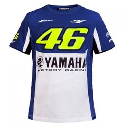 Wholesale Yamaha Motogp Shirt - 2017 New Cotton T-Shirt Fit for MotoGP yamaha M1 Racing Team Valen Rossi VR46 T-Shirt Motorcycle Casual Sport VR 46 Shirt