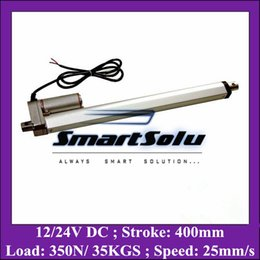 Wholesale micro loading - 12V 400mm=16 inches stroke 350N=35KGS load 25mm sec speed DC micro linear actuator
