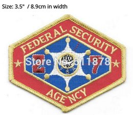 Wholesale Outland Movie Federal Security Agency TV Series Fancy Dress Costume Embroidered iron on patch TRANSFER APPLIQUE