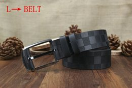 Wholesale Belt Buckle Chain - tttt 2017 Fashion l Stripe Pattern Double G Chain Buckle Men Designer f Belts European Style Brand waistbands High Quality Real Leather
