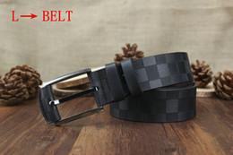 Wholesale Designer Chain Belt - tttt 2017 Fashion l Stripe Pattern Double G Chain Buckle Men Designer f Belts European Style Brand waistbands High Quality Real Leather