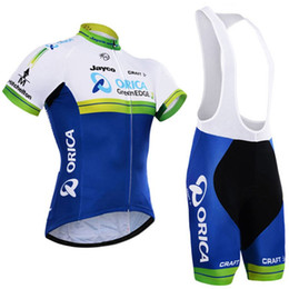 Wholesale Orica Green - 2017 Team Orica Greenedge Cycling Jerseys 3D Pad Bike Shorts Breathable quick dry MTB Ropa Ciclismo Bicycling Maillot Culotte Suit C0912