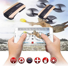 Wholesale Quadcopter Video Camera - JXD523 Tracker Foldable Quadcopter Phone app control RC JJRC H37 6-Axis Gyro WIFI FPV HD Camera RC Quadcopter G-sensor Selfie Drone JXD 523