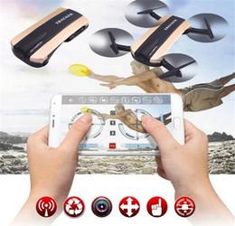 Wholesale Video Camera App - JXD523 Tracker Foldable Quadcopter Phone app control RC JJRC H37 6-Axis Gyro WIFI FPV HD Camera RC Quadcopter G-sensor Selfie Drone JXD 523