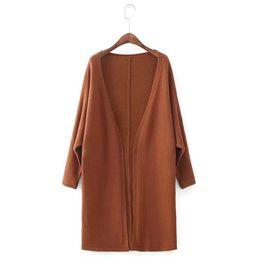 Wholesale Korean Batwing Fashion - Loose Knitting Cardigans Women's Sweater Coats 2017 Autumn and Winter New Korean Batwing Sleeve V-Neck Solid Cardigan Feminino