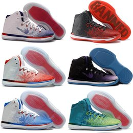 Wholesale Genuine Leather Boots Usa - New 31s Banned Olympic USA Brazil Rio Blue White Red Men Basketball Shoes Sneakers Cheap Retro 31 XXXI Air Sports Shoes US 7-12