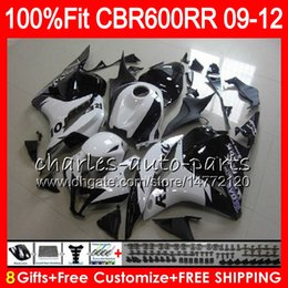 Weiße repsol verkleidungen online-Repsol White Body Injection für Honda CBR 600 RR CBR600RR F5 09 10 11 12 65NO14 CBR 600RR CBR600F5 CBR600 RR 2009 2010 2011 2012 Verkleidung