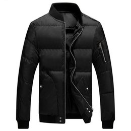 Wholesale Mens Slim Fit Down Coat - Wholesale- 2016 Winter Jacket Men Brand Casual Ultralight Windproof Warm Coat Mens Slim Fit Thick Wadded Jackets Coats Down Parkas Male#H