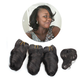 Wholesale Loose Wave Human Hair Unprocessed - Kiss Hair Romance Curl 8inch Unprocessed Virgin Human Hair Weave Short Bob Style 3Pcs 165G Brazilian Body Wave Deep Wave Kinky Jerry Curl