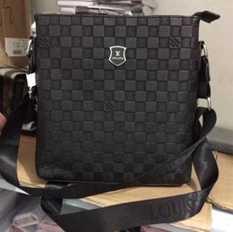 Wholesale Mens Black Briefcase - Famous Brand Leather Men Bag Briefcase Casual Business Leather Mens Messenger Bag Vintage Men's Crossbody Bag bolsas male