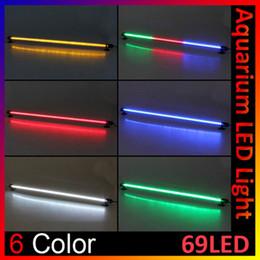 Wholesale Lighting Stick Fishing - 69 LED Low Fever Optional Color 62cm Fish Tank Bar Waterproof Submersible Stick Strip Light DEL_00Z