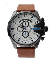 Wholesale Ruby White - 2017 Brand 7315 Men's Fashion Casual Sport Watches Men Waterproof Leather Quartz Watch 7333 Man military Clock Relogio Masculino