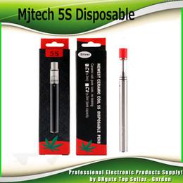 Wholesale E Cigarette Tank Glass - Authentic Mjtech 5S Disposable Vape Pen Kit for Thick Oil 320mAh E Cigarette Starter Kits with Ceramic Coil Glass Tank 100% Genuine
