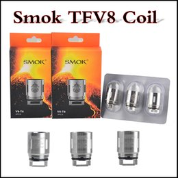 Wholesale Smoktech E Cig - In stock SMOK TFV8 Coil Q4 T6 T8 replacement clone Smoktech TC coil for TFV8 Cloud Beast Vape Tank E Cig via DHL