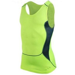 Wholesale Tight Tank Tops For Men - Wholesale- Men Tight Breathable Vest Compression Fitness Tank Top For Men Bodybuilding Sleeveless Shirts
