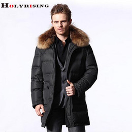 Wholesale Long Down Filled Jacket - Wholesale- Thickening plus-size High-end casual waterproof and fine men down jacket 80% goose down 600 fill power