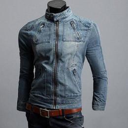 Wholesale Denim Coat Hoodie - Fashion Men's Winter coat denim jacket Hoodie Jeans Jacket outerwear hooded coat plus size free shipping