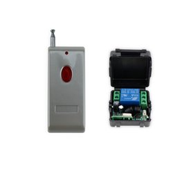 Wholesale electric lock remote - Wholesale- New arrival 433MHz 12V access control wireless remote control with receiver+shell for electric door lock can up to 100m-SB11