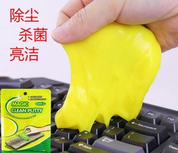 Wholesale Keyboard Cleaner Super Clean - BIG bag 100g 2017 Super Dust Cleaning Glue Slimy Gel Wiper For Keyboard Laptop Car Cleaning Sponge Car Accessories magic slime