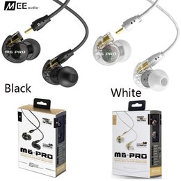 Wholesale Earbuds Retail - Hot MEE audio M6 PRO Universal-Fit Noise-Isolating Earbuds Musician In-Ear Monitors headsets Wired Earphones With Retail box also have solo3