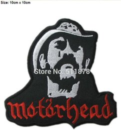 "Wholesale Off Punk - 3.93"" Motorhead Lemmy Kilmister Rock Punk retro 50% OFF FOR 10 LOTS iron on patch heavy metal music band sew on Biker Vest badge"
