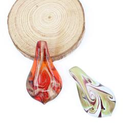 Wholesale Vintage Heart Shaped Glasses - MC0012 12pcs box Vintage Glass Drop Shaped Foil Lampwork Flower Pendants Decoration, Stock Lampwork in Bulk