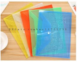 Wholesale Old Schools - Office A4 transparent plastic advertising file bag PP buckle file bag